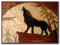 Detail of howling wolf...